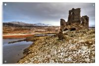 Ardvreck Castle in The Snow, Acrylic Print