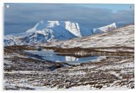 Ben More Coigach and Clar Loch Mor, Acrylic Print