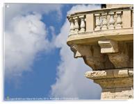 Baroque Balcony, Acrylic Print