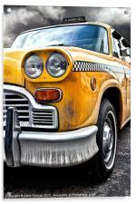 New York Yellow Cab, Acrylic Print