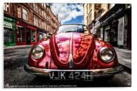 Vintage Beetle on the street, Acrylic Print