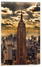 Empire state building, Acrylic Print