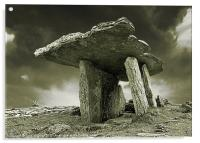 Poulnabrone Dolmen, Clare, Ireland, Acrylic Print