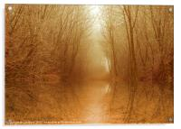 Magical Autumn Pool, Acrylic Print