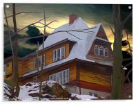 Hill House - Winter, Acrylic Print