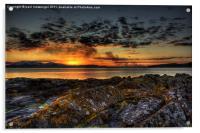 rocky sunset, Acrylic Print