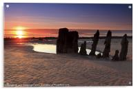 Ardrossan Wreck Beach Sunset, Acrylic Print