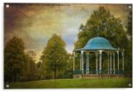 victorian bandstand in shrewsbury, Acrylic Print
