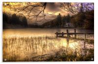 On Golden Loch, Acrylic Print
