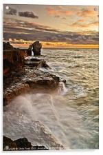Sunset at the Rock, Acrylic Print