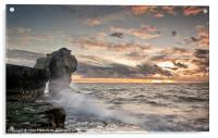Sundown at Pulpit Rock, Acrylic Print