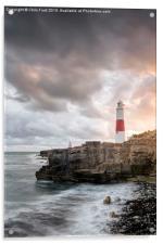 Sunkissed Portland Lighthouse, Acrylic Print