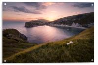 Last Light at Lulworth, Acrylic Print