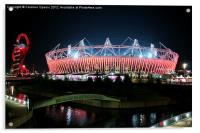Olympic Stadium by night, Acrylic Print