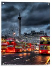 London red buses, Acrylic Print