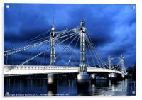 Albert bridge, London, Acrylic Print