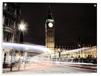 Big Ben with Light Trails, Acrylic Print
