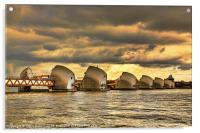 Thames Barrier, Acrylic Print