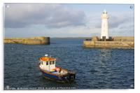 The lighthouse at Donaghadee Harbour, Acrylic Print