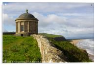 Mussenden Temple on the North Coast of Ireland, Acrylic Print
