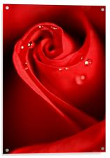 Red Swirl, Acrylic Print