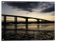 Orwell Bridge, Suffolk , Acrylic Print