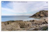 A View of Capstone Cove from the Promenade., Acrylic Print
