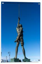Verity by Damien Hirst at Ilfracombe Harbour, Acrylic Print