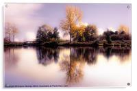 Autumn Pond, Acrylic Print