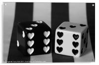Black & White Dice, Acrylic Print