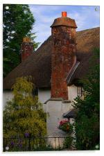 Devon cottage, Acrylic Print