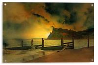 Shaldon cliffs, Acrylic Print