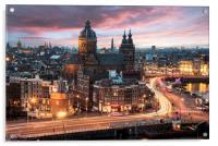 Amsterdam sunset, Acrylic Print