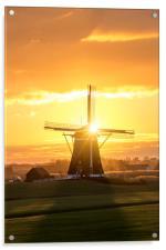 Sunrise windmill, Acrylic Print