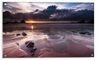 Hartland Sunset, Acrylic Print
