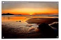 'Sunset Beach', Acrylic Print