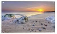 Hengistbury Head Sunset, Acrylic Print