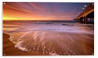 Colourful Pier Sunrise, Acrylic Print