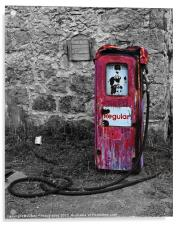 Gasoline ends, Acrylic Print