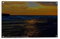 BEACH SUN REFLECTION, Acrylic Print