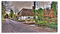 Thatched Cottage Kent, Acrylic Print