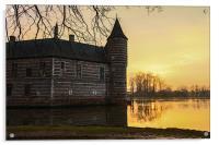 Sunset at Horst Castle, Acrylic Print