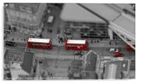 London Buses from above, Acrylic Print