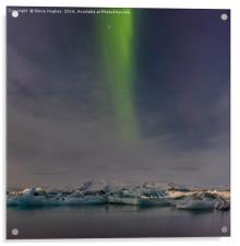 Northern Lights above the Jökulsárlón ice lagoon, Acrylic Print