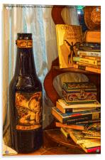 Bottle and Books, Acrylic Print