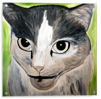 My Painting of an angry Cat, Acrylic Print