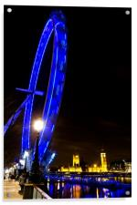 London Eye at Night, Acrylic Print