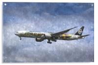 Air New Zealand Hobbit Boeing 777 Art, Acrylic Print