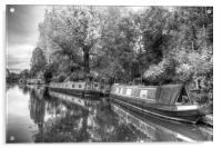 Little Venice Narrow Boats, Acrylic Print