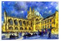 Bath Abbey Art, Acrylic Print